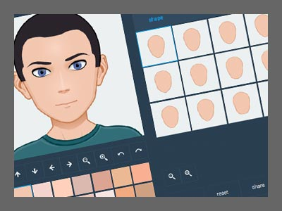 create your own free avatar my blue robot creative agency